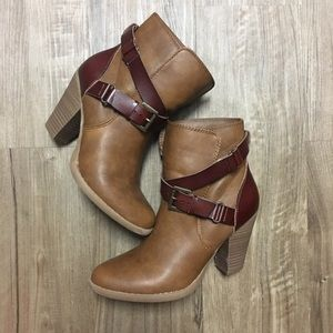 Brown Heeled Ankle Booties!